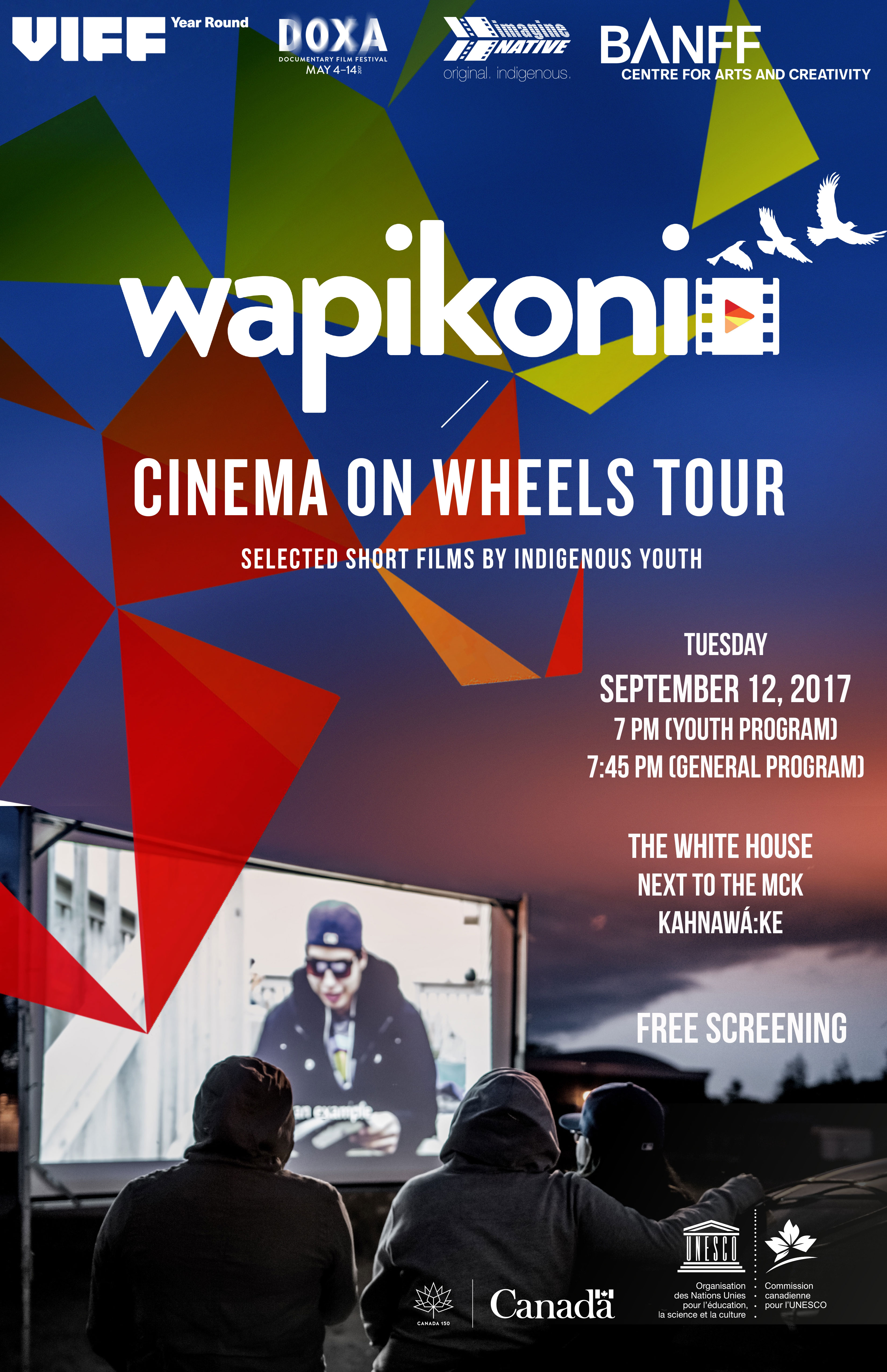 Wapikoni Cinema On Wheels Tour Poster